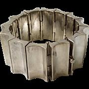 168GR Los Ballesteros Taxco Modernist Sterling Silver Concave Link Bracelet