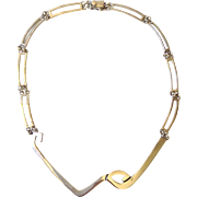 Erika Hult de Corral RIC Taxco Modernist Sterling Silver Collar Necklace