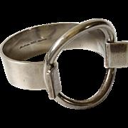Hans Hansen Denmark Modernist Sterling Silver Cuff Bracelet, Bent Gabrielsen Design