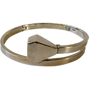 William Spratling Taxco Modernist Sterling Silver Equestrian Nail Bracelet