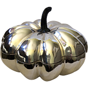 RESERVED Large Silverplate Pumpkin Tureen By D'Argenta International