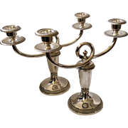 Christofle Gallia Candelabras, c. 1930