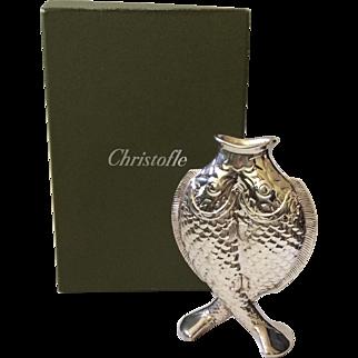 """Christofle France Art Nouveau Silverplate """"Deux Poissons"""" (Two Fish) Vase"""
