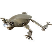 RARE Emilia Castillo Taxco Silverplate Articulated Frog Bottle Opener