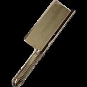 Christofle France Vintage Silverplate Crumb Sweeper