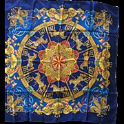 Hermes Jacquard Silk Scarf: Luna Park