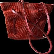 Bottega Veneta Woven Jute and Leather Bag