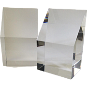 MidCentury Geometric Lucite Bookends