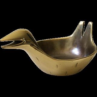 Ben Seibel MidCentury Brass Bird Bowl for Jenfred