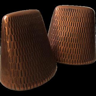 RARE Ben Seibel MidCentury Copper Bookends for Jenfred