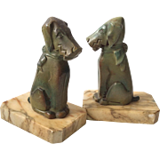 French Art Deco Stylized Dog Bookends