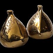 RARE Ben Seibel MidCentury Modern Brass Fish Form Bookends for Jenfredware
