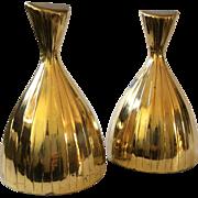 MidCentury Modern Sculptural Brass Bookends, Norman Bleckner Design