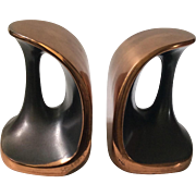 "RARE Ben Seibel MidCentury Copper ""Handle"" Bookends for Jenfredware, c. 1950s"