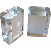 MidCentury Modern Lucite Bookends, Ritts and Karl Springer Era