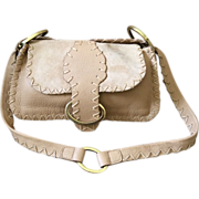 LIKE NEW Gucci Leather and Suede Whipstitch Shoulderbag