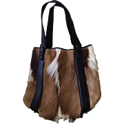 LIKE NEW Springbok Skin and Leather Tote