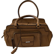 TOD'S Camel Leather Satchel Handbag