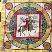 Hermes Jacquard Silk Scarf: Feux D'Artifice
