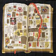 RARE Hermes Scarf: Chiffres et Monogrammes