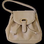 Bottega Veneta Cream Textured Leather Top Handle Satchel Handbag