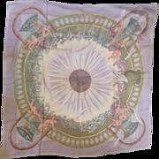 RARE Hermès Silk Chiffon Mousseline Scarf: Amours
