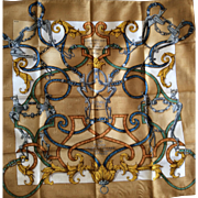 Hermès Jacquard Silk Scarf: L'Instruction du Roy in Hermès Box