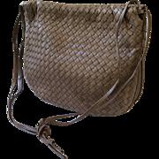 Bottega Veneta Taupe Intrecciato Woven Leather Shoulderbag
