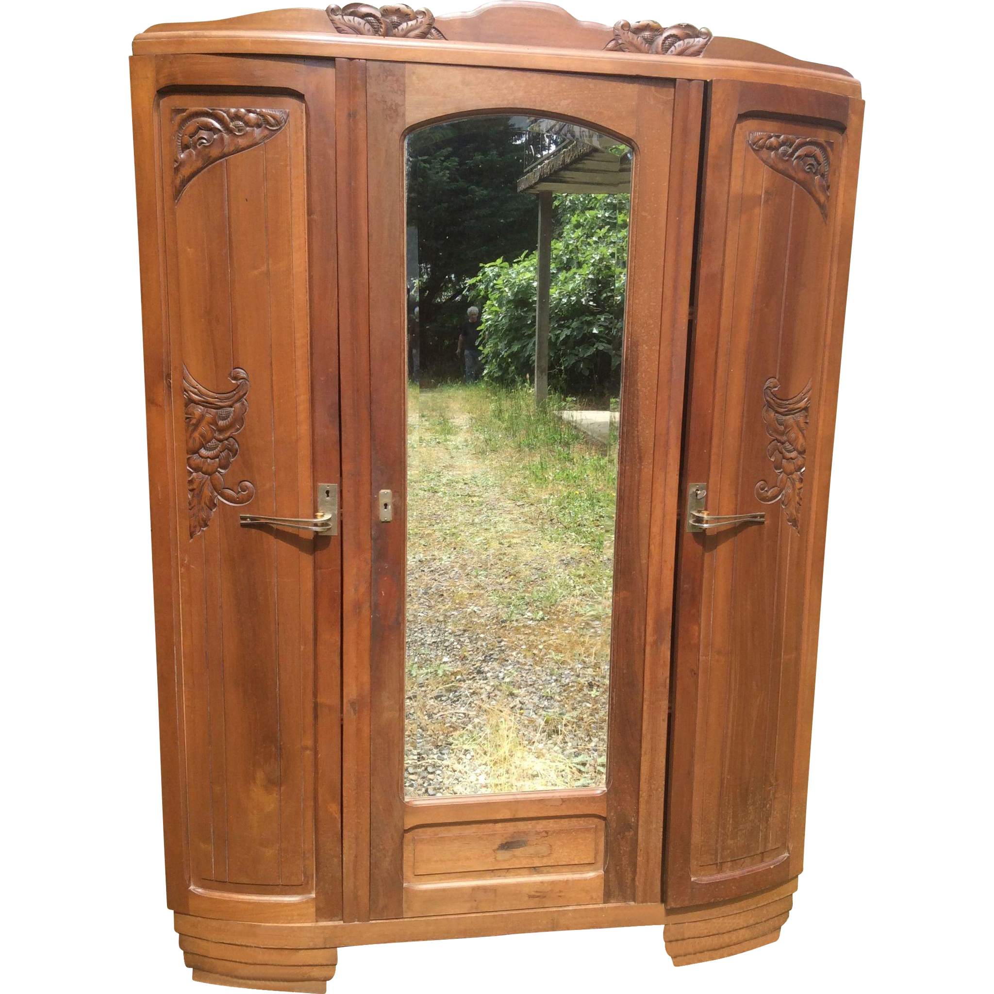 french art nouveau armoire from luxuryfrenchcollection on ruby lane. Black Bedroom Furniture Sets. Home Design Ideas