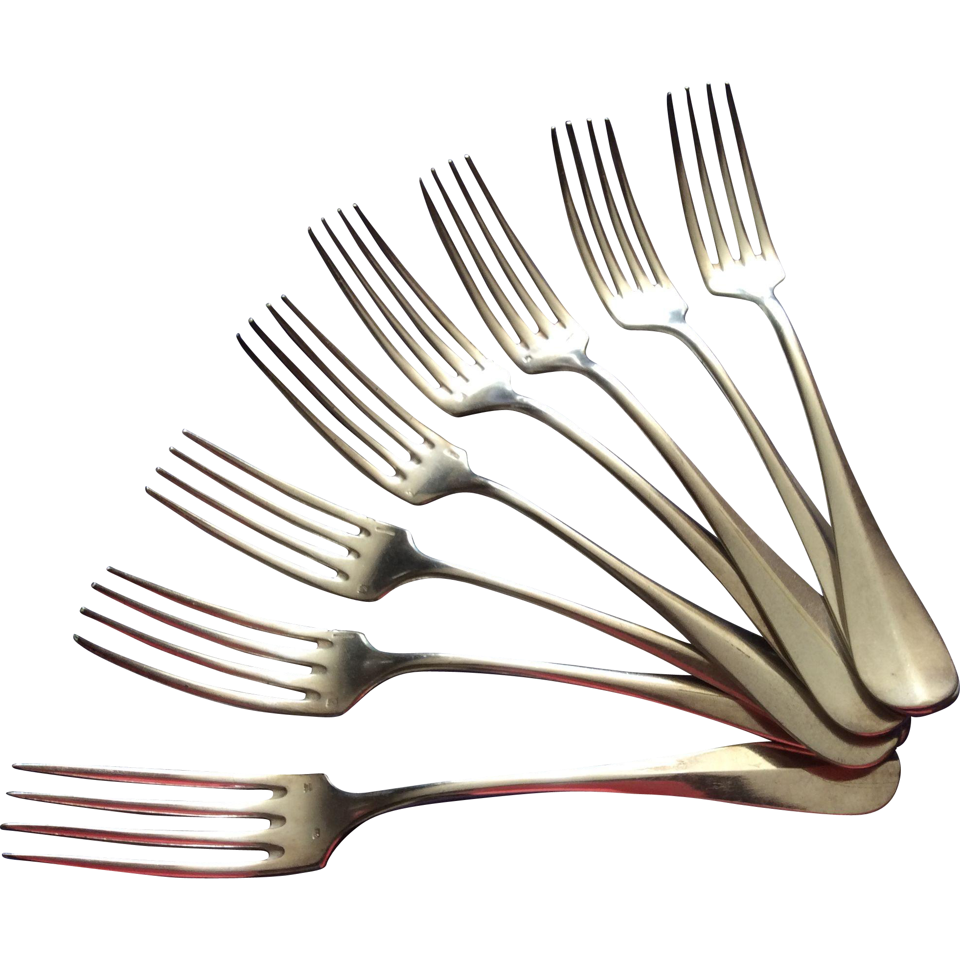 christofle silver plated dinner forks set of 8 from luxuryfrenchcollection on ruby lane. Black Bedroom Furniture Sets. Home Design Ideas