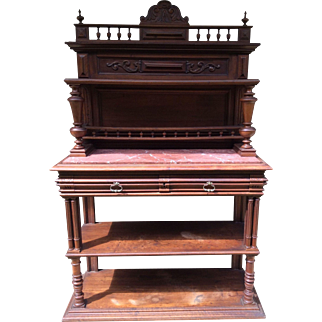 French Sideboard with marble, Henri II style