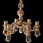 French bronze chandelier Louis XVI style