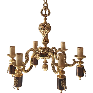 French bronze chandelier Louis XVI style