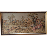 French tapestry with gold gilt frame