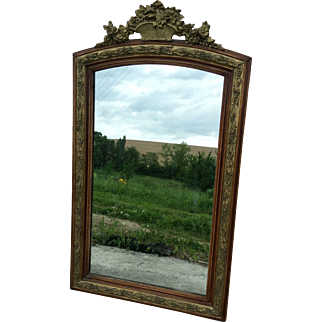 French Mirror in Wood and Plaster with gold gilt