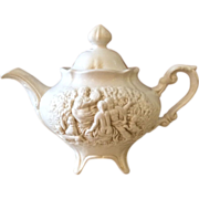 Decorative Miniature Italian Teapot with 3D bas-relief