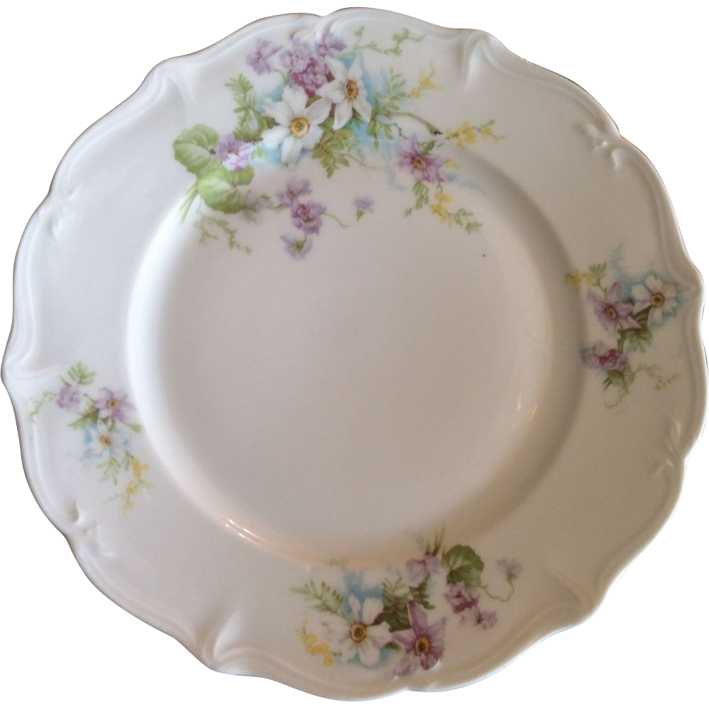 French Limoges Dinner Plates by Ahrenfeldt Set of 8 (one extra!)  Luxury French Collection | Ruby Lane  sc 1 st  Ruby Lane & French Limoges Dinner Plates by Ahrenfeldt Set of 8 (one extra ...