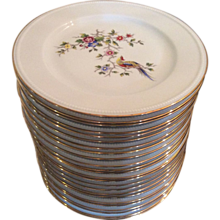 Limoges dinner plates by Bernardaud & Co.