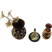 Miniature Flower Vases and Chambrestick