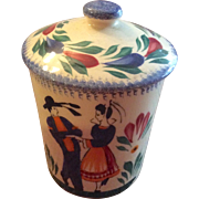 Small Quimper Canister with Dancing Couple