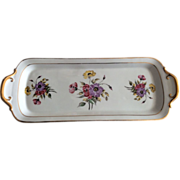 Hand painted Limoges rectangular plate