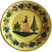 Small Decorative Quimper plate