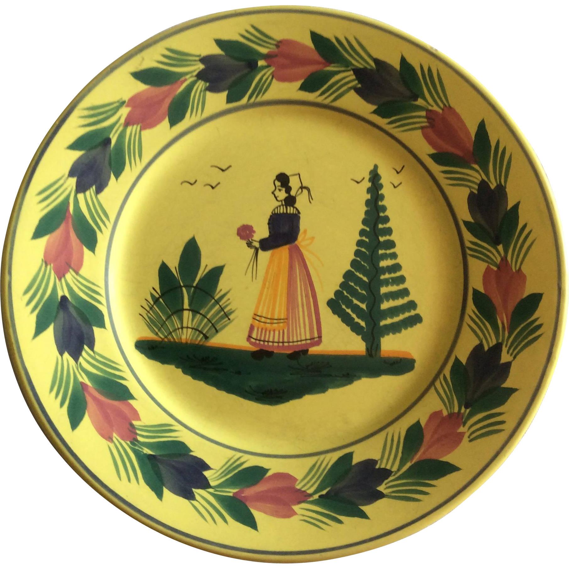 Small decorative quimper plate from luxuryfrenchcollection for Deco quimper