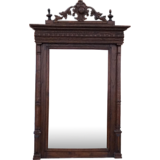 French Wood Mirror