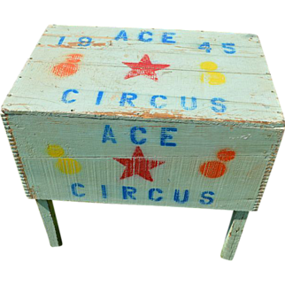 "Primitive ""Circus"" table"