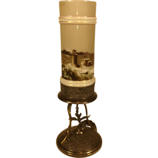 Simpson Hall Miller & Co Victorian Era Bud Vase Lighthouse Scene