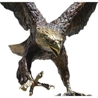 "Bronze Eagle Sculpture ""Centennial"" by Laran Ghiglieri"