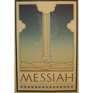Vintage 1978 DAVID LANCE GOINES 'MESSIAH' Movie Film Poster Signed Print