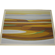 "KENSUKE WAKESHIMA ""Mesa"" signed limited edition ABSTRACT lithograph - Japanese American"