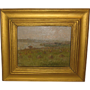 Antique JAMES-CANTWELL 'Summer Farm Landscape' Oil PAINTING - Thomas Moran Student NEW YORK